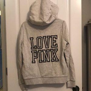Victoria's Secret pink half zip hoodie